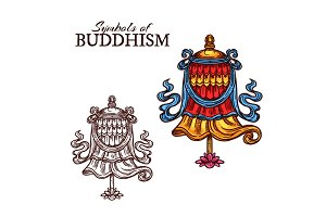 Buddhism religion victory banner