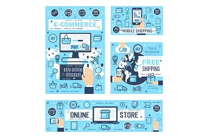 Online e-commerce, mobile shopping