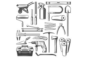 Construction and repair work tools