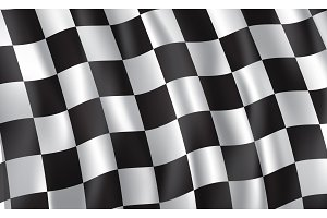 Racing and rally car checkered flag