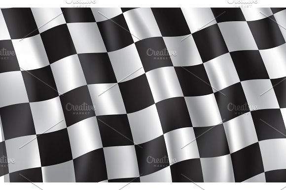 Racing And Rally Car Checkered Flag Illustrations Creative Market