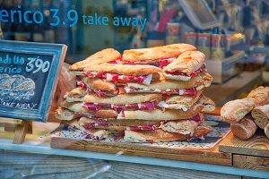 Famous Spanish jamon sandwich sold a