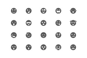 Set of emoji (emotions) icons
