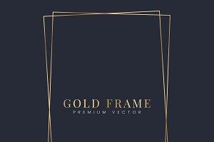 Golden rectangle frame vector