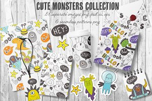 Doodle monsters collection