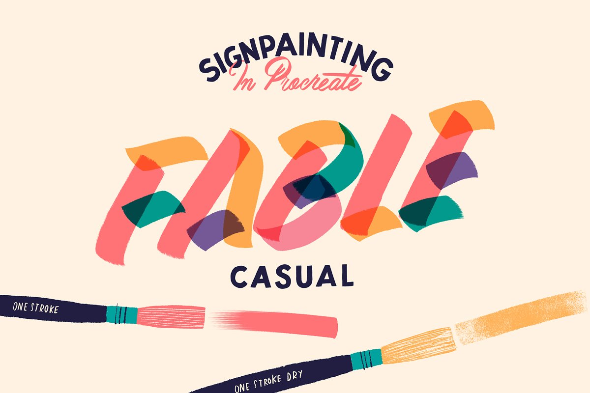 Fable Casual Procreate Brush ~ Procreate Brushes ~ Creative