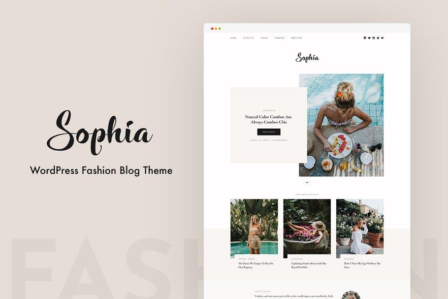 Sophia Wordpress Blog Theme