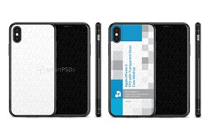 iPhone X 2d TPU with Glass Back Case