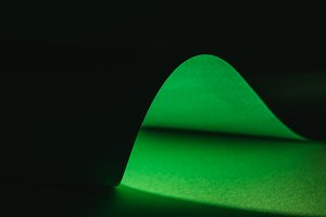green warping paper for decoration o