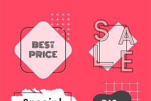 sale and promotion badges vector set