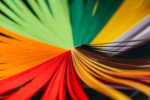 colored bright quilling striped pape