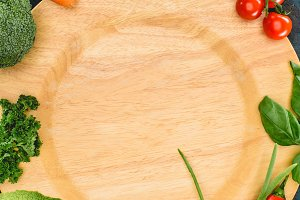 top view of fresh healthy raw vegeta