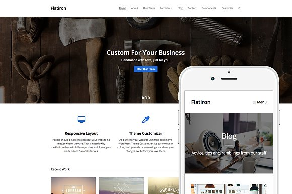 Flatiron Business WordPress theme