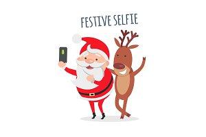 Santa Makes Festive Selfie with