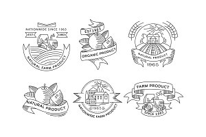 Collection of organic farm products