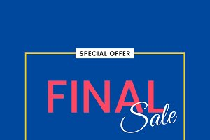 Final sale special offer sign vector