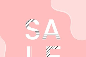 Sale shop now announcement vector