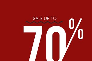 Sale up to 70 percent off vector