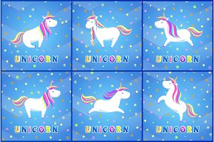 Unicorn Magic Animal Posters with
