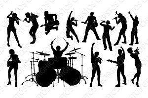 Silhouettes Rock or Pop Band
