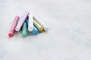 chalks in a variety of colors
