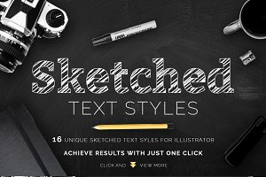Sketched Text Styles Chalkboard Efx