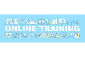 Online training word concepts banner