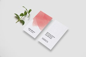 Minimal Watercolour Business Card