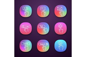 App buttons icons set