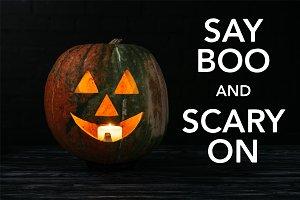 jack o lantern pumpkin with candle i