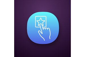 Add to favorite button app icon