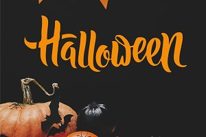 pumpkins, paper bats and paper garla