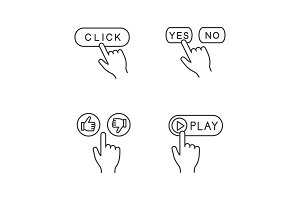 App buttons linear icons set