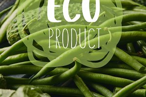 """Cucumber and green beans with """"eco p"""