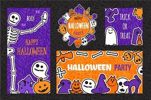 Halloween Party Banners Set