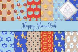 Hanukkah Digital Paper