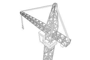 Crane construction equipment