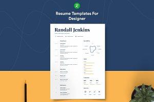 Resume For Designer With Portfolio