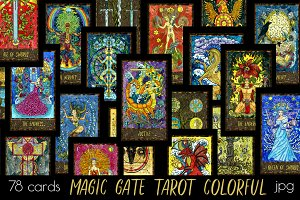 Magic Gate Tarot Deck colorful