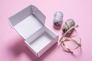 White cardboard gift box