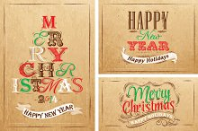 Merry Christmas lettering collection
