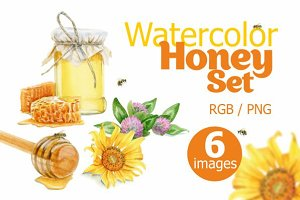 Watercolor Honey Set