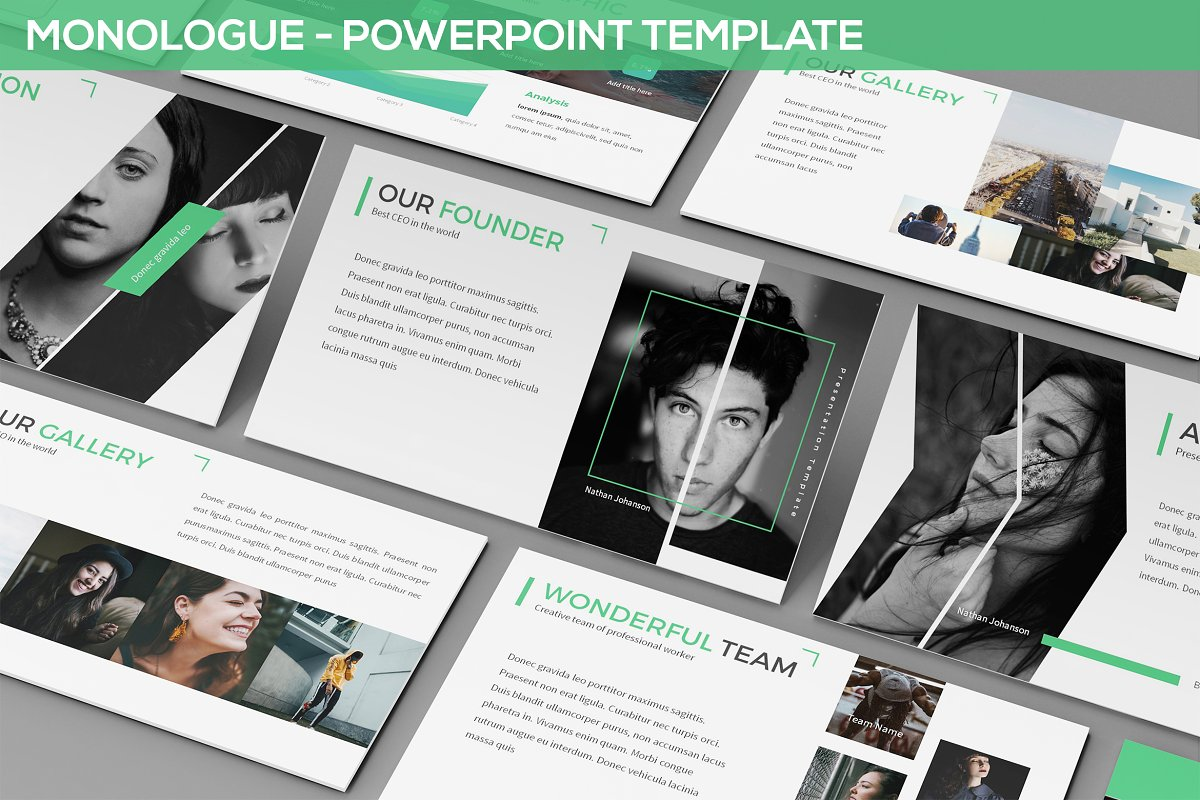 Monologue - Powerpoint Presentation in Presentation Templates