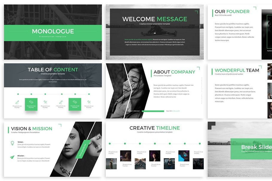 Monologue - Powerpoint Presentation in Presentation Templates - product preview 1