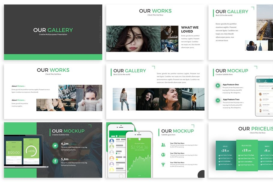 Monologue - Powerpoint Presentation in Presentation Templates - product preview 2