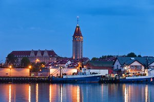 Wladyslawowo Town Skyline at Night
