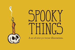 Spooky Things Vector Illustrations