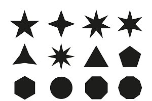 Star icons. Vector icon star set