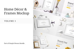 Home Decor and Frames Mockup Vol.1