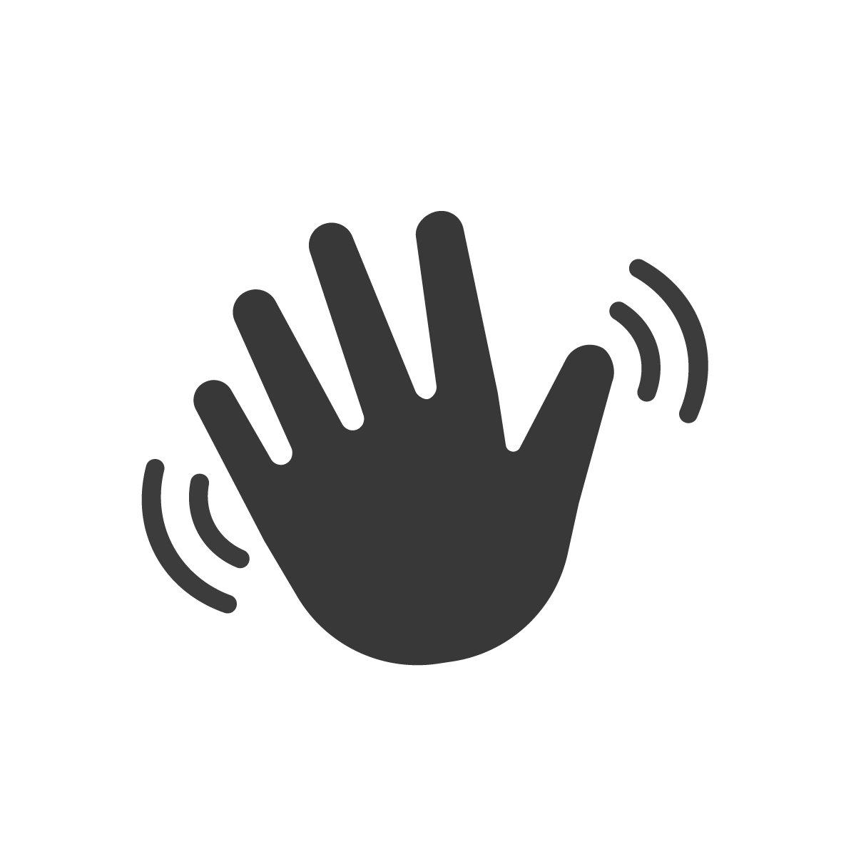 Hand wave waving hi or hello. Vector | Custom-Designed ...